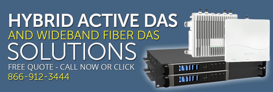 Hybrid Active DAS and Fiber DAS Cell Signal Amplifiers