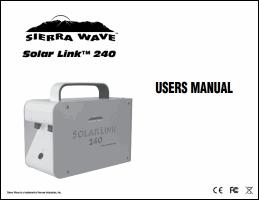 Download the Sierra Wave Solar Link 240 user manual (PDF)