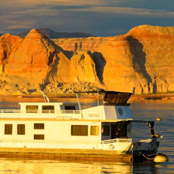 Houseboats on Lake Powell, Arizona