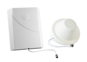 Directional panel antenna and omnidirectional dome antenna