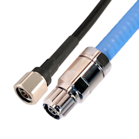 Top Signal 400 coax cable with N connector and Top Signal half-inch plenum air coax cable with N connector