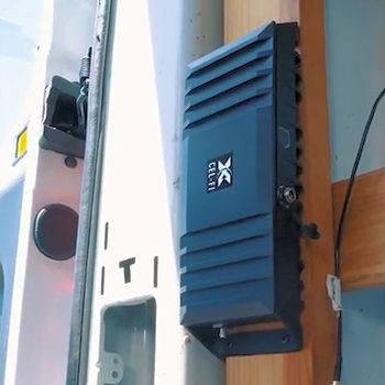 Cel-Fi GO M Mobile Smart Signal Booster G32-2/4/5/12/13M example installation in a panel van