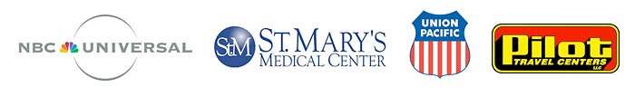 Powerful Signal's satisfied customers include NBC Universal, St. Mary's Medical Center, Union Pacific, Pilot Travel Center