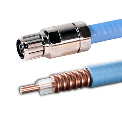Top Signal half-inch plenum air coax with N-male connector