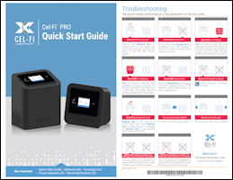 Download the Cel-Fi PRO Wireless Smart Signal Booster P34-2/4/5/12 quick start guide (PDF)