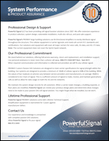 Powerful Signal system performance and Product Assurance PDF