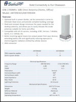 Download the SolidRF SpeedPro indoor unit desktop antenna spec sheet (PDF)