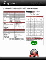 Download the Top Signal half-inch coax cable spec sheet (PDF)