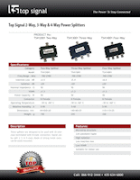 Download the Top Signal 3-Way Splitter 50 Ohm N-Female TS413001 spec sheet (PDF)