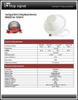Download the Top Signal TS250374 building dome antenna spec sheet (PDF)