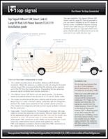Download the Top Signal HiBoost 10K Smart Link 65 Large RV Park kit installation guide (PDF)