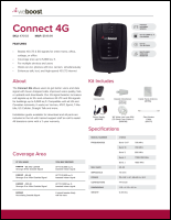 Download the weBoost Connect 4G 470103 spec sheet (PDF)