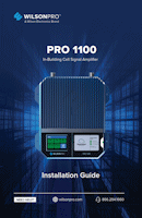 Download the WilsonPro 460147/461147 Pro 1100 installation guide(PDF)