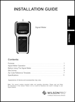 Download the WilsonPro Signal Meter install guide (PDF)