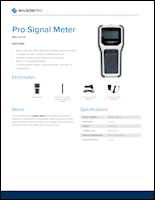 Download the WilsonPro Signal Meter spec sheet (PDF)
