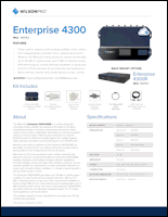Download the WilsonPro Enterprise 4300/4300R 460152/460153 spec sheet (PDF)
