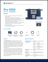 Download the WilsonPro 460230 Pro 1050 spec sheet (PDF)
