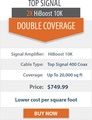 Top Signal 2X HighBoost 10K double coverage comparison chart 2x
