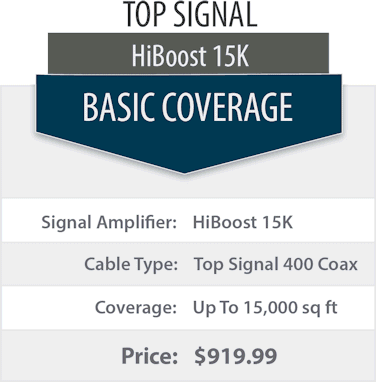 Top Signal 2X HighBoost 15K double coverage comparison chart 1x