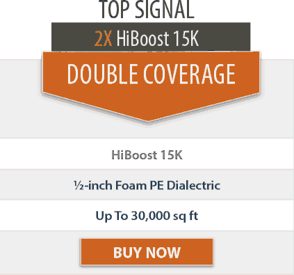 Top Signal 2X HighBoost 15K double coverage comparison chart 2x