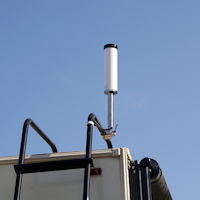 Top Signal HiBoost 4K Smart Link 60 Small RV Park outside omni antenna deployed