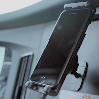 weBoost Drive Sleek OTR Trucker 470235 cell phone booster dashboard cradle mount setup example 3