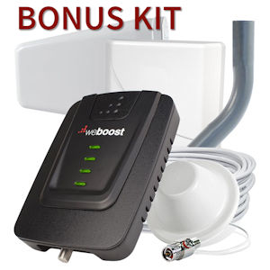 weBoost Connect 4G Cell Phone Signal Booster for Homes with Bonus Dome Antenna 470103-A