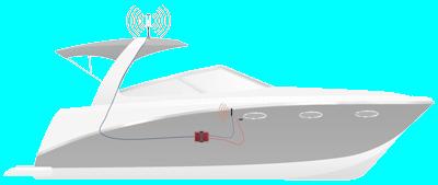 Marine weBoost DriveReach kit setup diagram