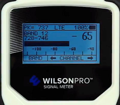 WilsonPro Signal Meter 460118 display detail