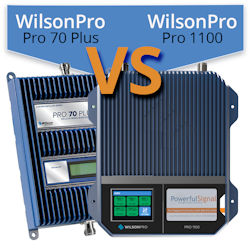 What are the differences between the WilsonPro 1100 and WilsonPro 70 Plus?