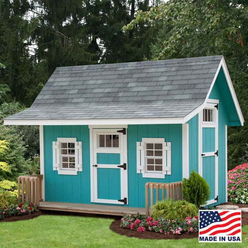 EZ - Fit Classic A-Frame Painted Playhouse with porch built by EZ Fit Sheds Amish Country Ohio