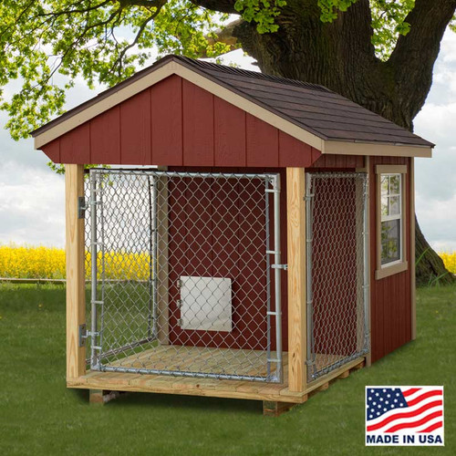 Dog Kennel  5 x 8 with outside run | EZ Fit Sheds Wilmot Ohio