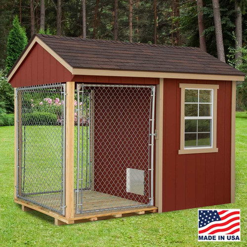 Dog Kennel  6 x 10 with outside Run | EZ Fit Sheds Wilmot Ohio
