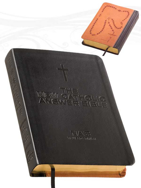 The NEW Catholic Answer Bible Librosario NABRE (Black)