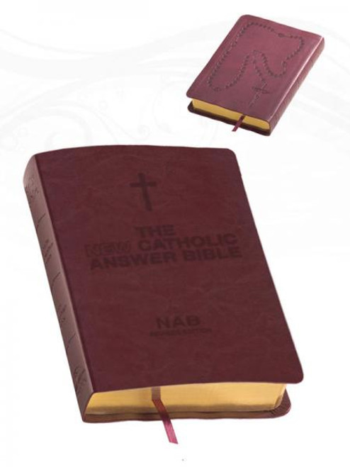 The NEW Catholic Answer Bible Librosario NABRE (Burgundy)