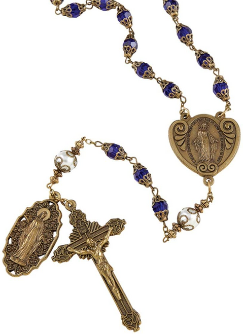 Miraculous Rosary - Cobalt Blue, Vintage Certified Limited Edition