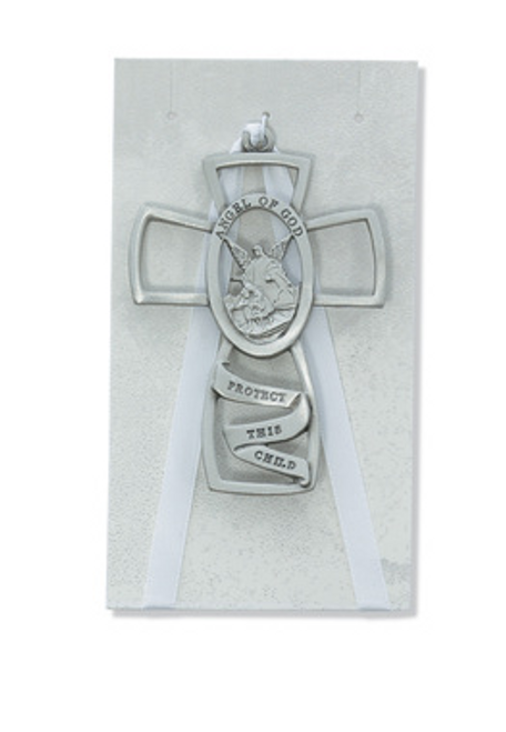 Guardian Angel Crib Cross White, Baby Gift, Newborn, Baptism