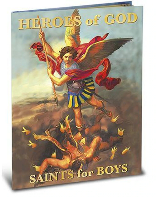 """Collected especially for boys, """"Heroes of God"""" provides inspiring accounts of saints. Each featured saint has a biography by Daniel Lord and an illustration by renowned classical children's artist, Larry Rupert. This 64-page hardcover book will provide inspiration for boys of the Catholic faith.  Hardcover"""