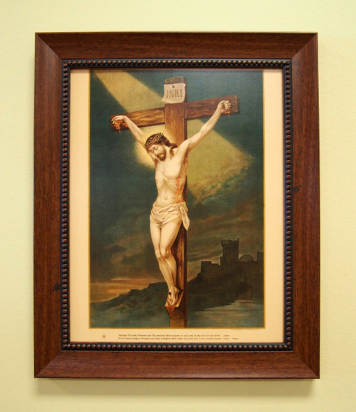 """Crucifixion of Our Lord Sacred Print 18"""" x 24"""" and 11"""" x 14"""" Holy Wounds Precious Body Precious Blood"""