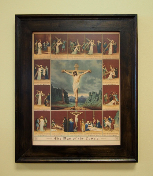 """The Way of the Cross Sacred Print 11"""" x 14"""" or 16"""" x 20"""" Stations of the Cross. The Crucifixion. Jesus's Sacrifice"""