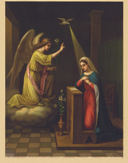 """The Annunciation of the Blessed Virgin Mary Sacred Print 11"""" x 14"""""""