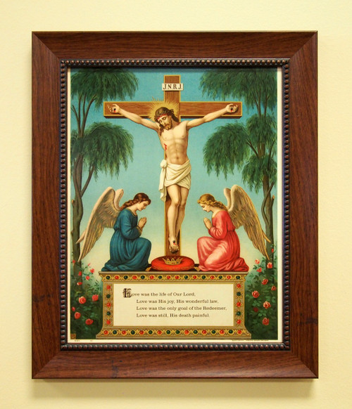 """Crucifixion of Our Lord 11"""" x 14"""" Sacred Print (Only) Angels Love Passion Death"""