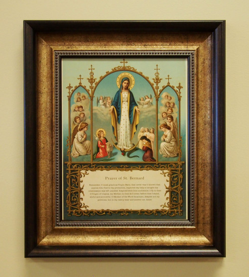 """St. Bernard's Prayer """"Memorare"""" depicts beautiful angelic images of Our Lady, Angels, and Saints Saint Agness Faith Hope Love"""