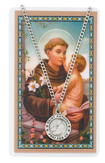 St. Anthony Medal, Necklace, and Prayer Card Set
