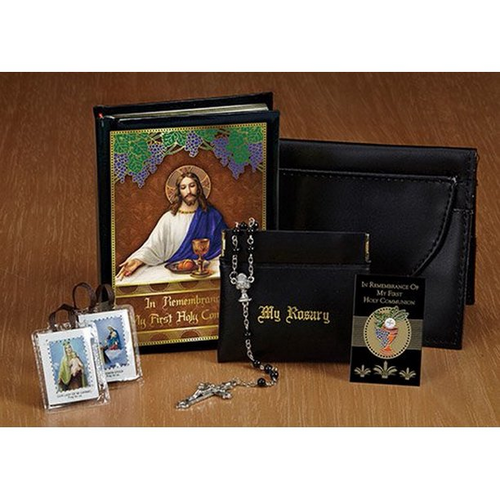 My Body, My Blood First Holy Communion Leatherette Wallet Set - Boy