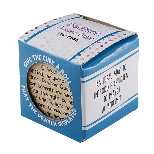 Baptism and Child's Bedtime Prayer Wood Cube