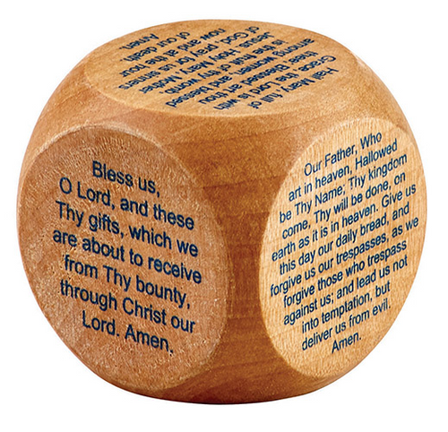 Favorite Catholic Prayer Wood Cube