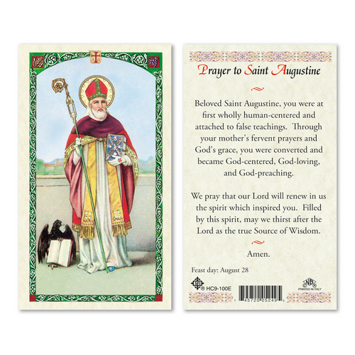 Saint Augustine is the patron saint for brewers, printers, theologians, the alleviation of sore eyes, and is a patron to numerous cities and dioceses all over the world.