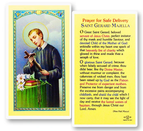 Saint Gerard Majella is patron for expectant mothers, safe childbirth, pregnancy, and motherhood.