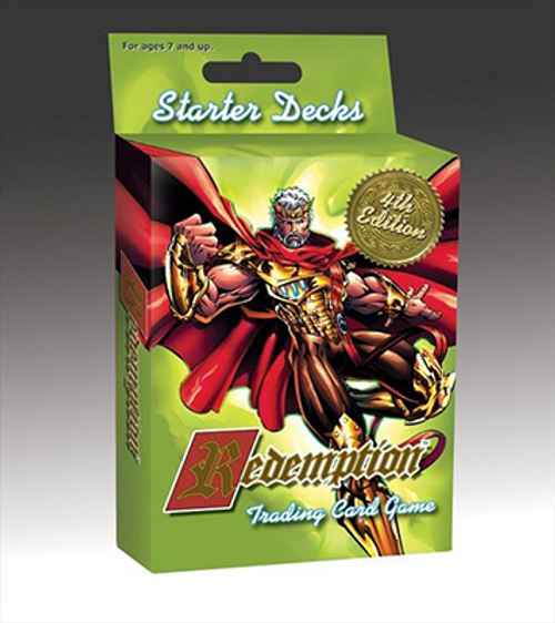 This 4th edition Redemption Starter Set features redesigned game cards and a new streamlined rulebook that is ideal for new players to learn the game. The two decks included in the game are ready to play. Recommended for ages 7+ 2 players.